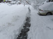 Shoveled a path on my sidewalk - it is the law to do so.
