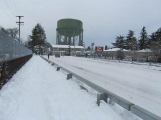 Bridge over the Rail Road cut.