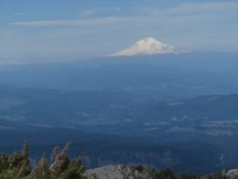 A little hazy but we could see Adams, Rainier and St. Helen.