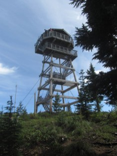 I found a relatively new and manned fire lookout on top of the butte.