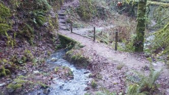 This bridge was put in a few years ago by a Mazama Trail Crew.