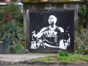 By Aaron Chapman & Andrea Glasher - SE 12th & Ankeny (on garage door)