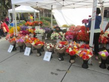 When in season the markets can have some good prices on flowers.