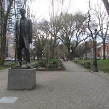 Statue in Park Blocks.