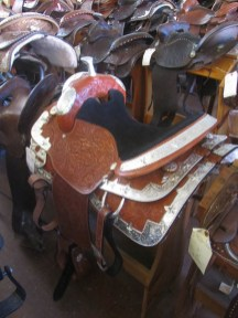 A saddle fit for a rodeo Queen or Princess.