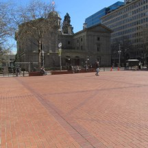 Looking to the back of the old court house.