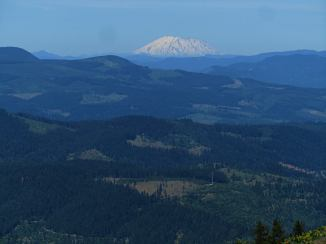 Mt. St. Helens is one of the four mountains you can see from the top of Bald Mt.