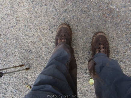 I have never come back from a hike this muddy before.