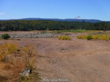 The same private corporation is running this place as all of the Mt. Hood Campgrounds. They want Five dollars to drive in and see a dried up lake. Fish and Game stock it at tax payer expense and the Corporation charges you to enter to fish then keeps the money.