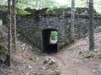 I took Lori down to see the old tunnel under the abandon highway and almost got run over by bikes. This is way we don't hike this trail. It has been taken over by Bombers.