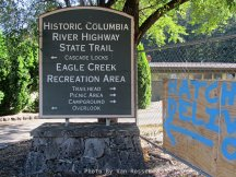 Sign at Eagle Creek, all is close to the public