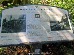 Info sigh on Moffet Creek Bridge