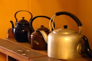 The teapots of Teapot Cafe