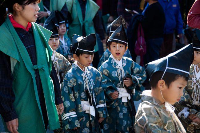 Guardian children lead the procession