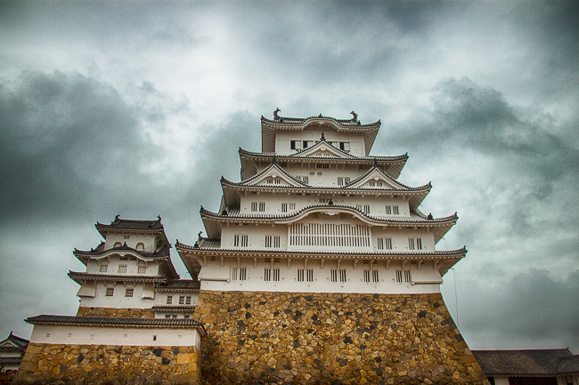Himeji Castle is a hilltop Japanese castle complex located in Himeji, in Hyōgo Prefecture, Japan. The castle is regarded as the finest surviving example of prototypical Japanese castle architecture and is also known by its more poetic name - The Castle of the White Heron