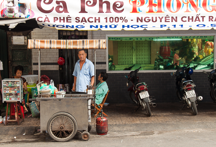 Fresh breakfast at this street side stall