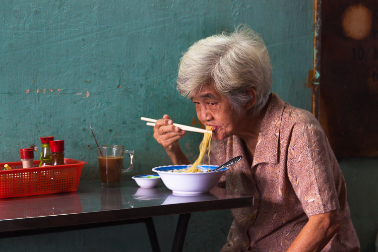 Fresh noodle soup at one of the many little breakfast places