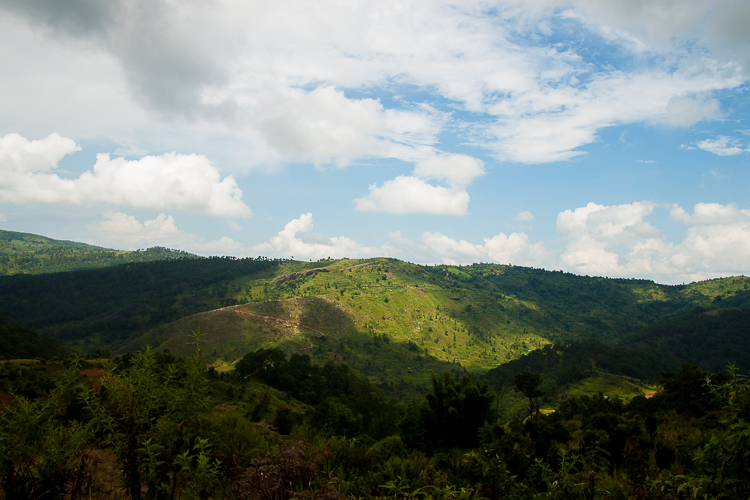 View from the rather bad road up into Nongjrong Village