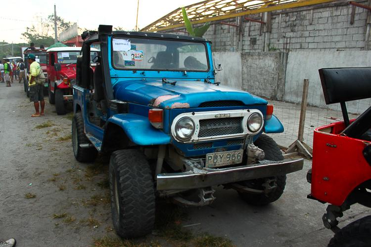 Our 4X4 jeeps await us at the villageOur 4X4 jeeps await us at the village