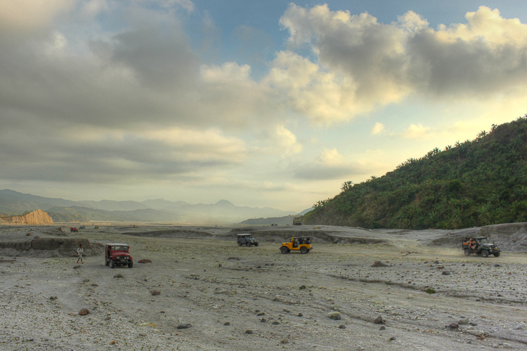 We race across the lahar canyons around Mt.Pinatubo