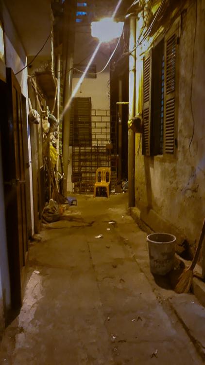 This was one scary alleyway