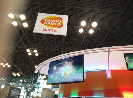 The Bandai Namco booth at NYCC