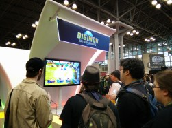 Attendees playing Digimon: All-Star Rumble