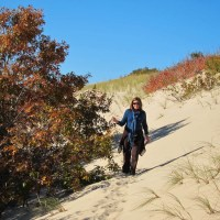 Kathy in the Sand Dunes