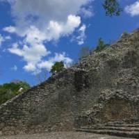 Nohoch Mul Pyramid side view