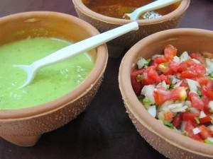 Salsa Verde and Salsa Fresca