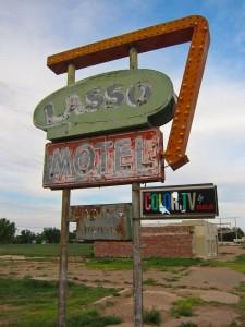 Lasso Motel Sign