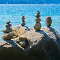 Rock Cairns in Stanley Park