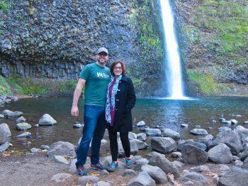 Rich & Kat at Horsetail Falls