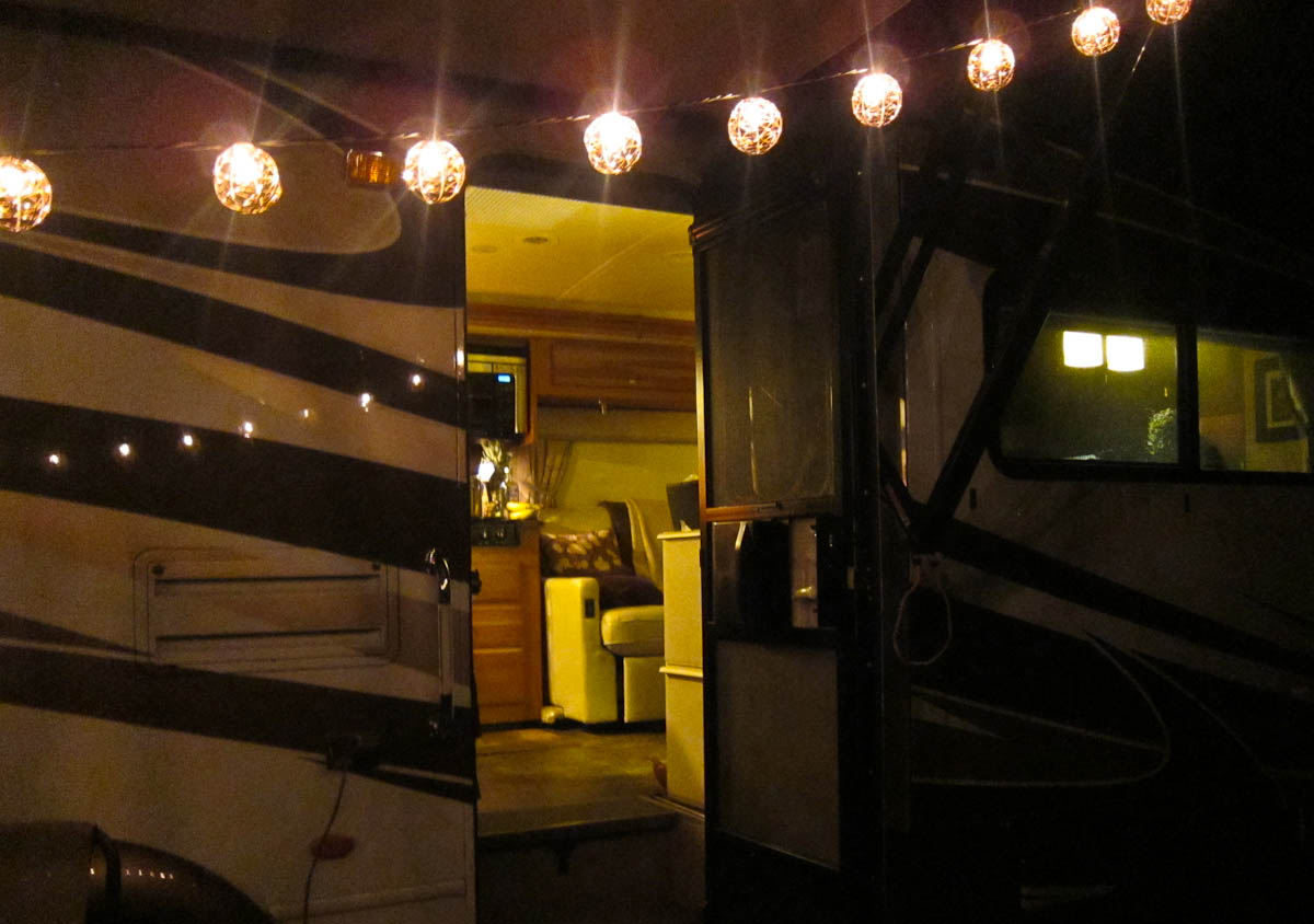 Our RV at Dusk - A cozy sight after an evening walk