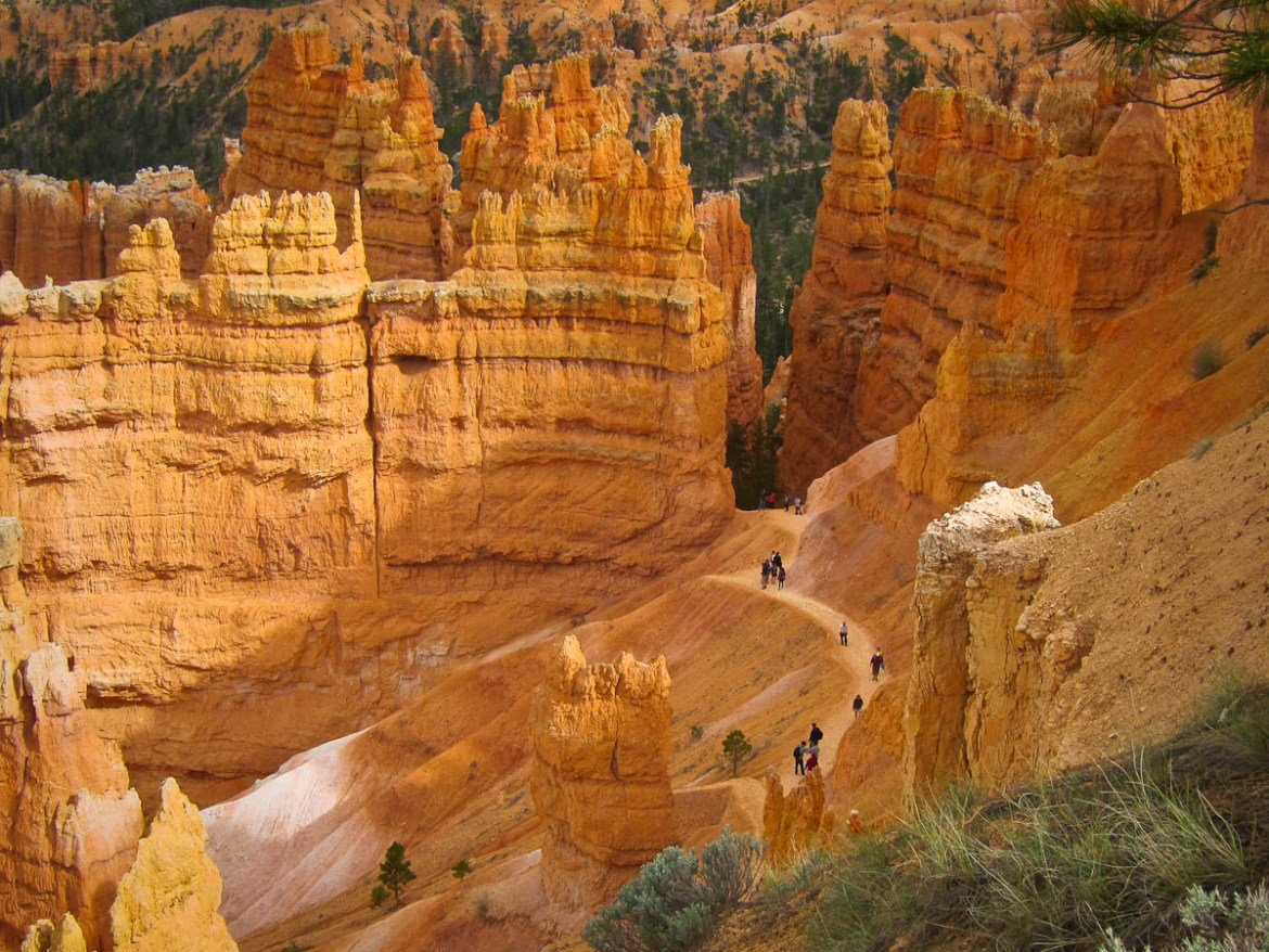 Hikers on the Navajo Trail