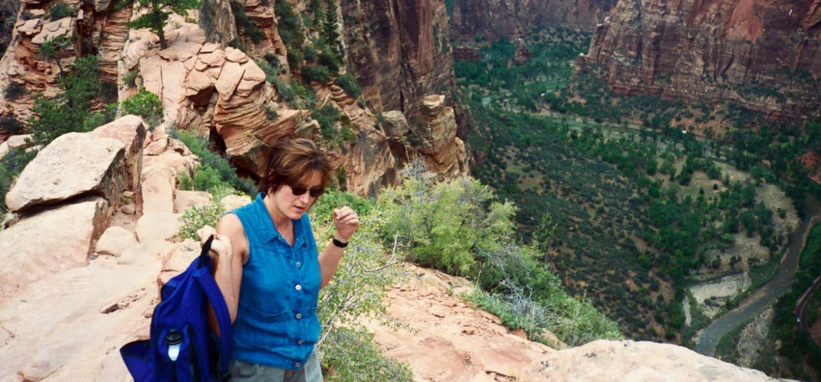 Kathy on Angel's Landing Circa 1998