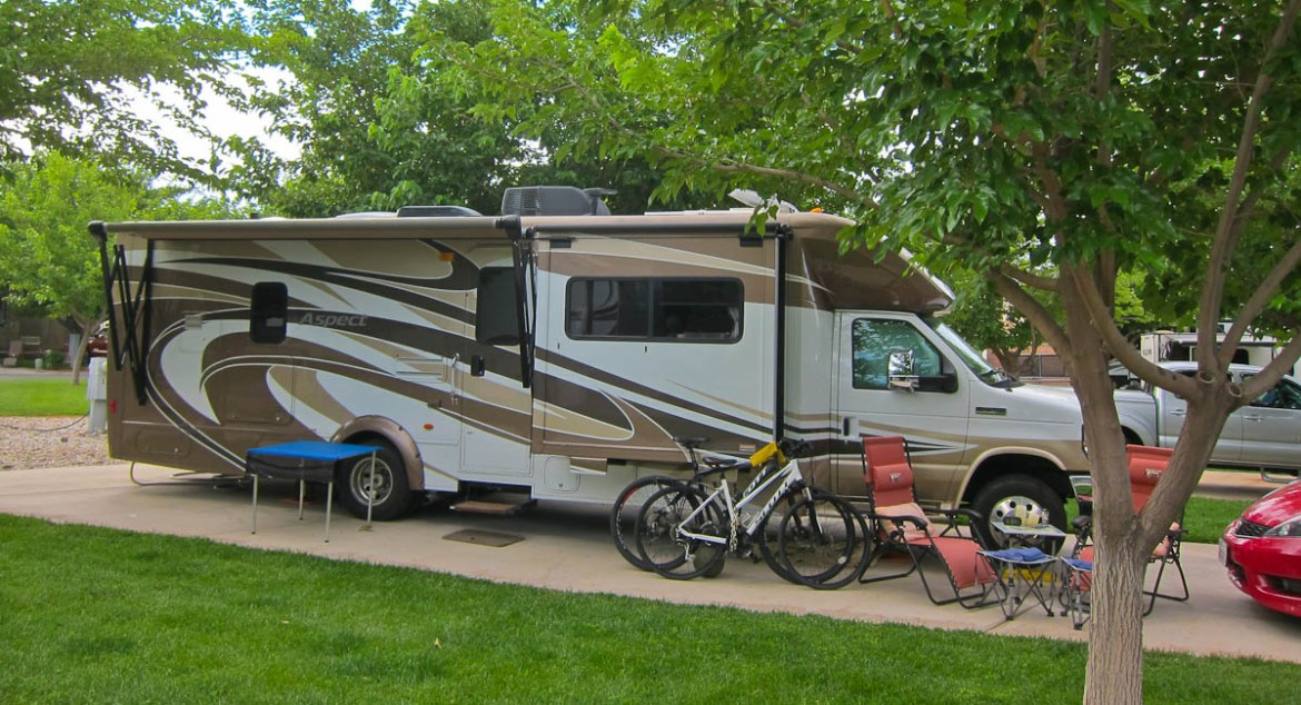 Our Shaded Site at Willow Winds RV Resort