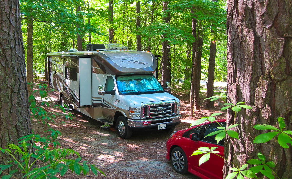 Tucked into the woods for 3 weeks!