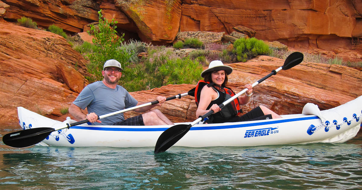 Our Sea Eagle Kayak at Sand Hollow State Park