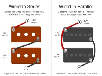How to wire batteries in Series vs in Parallel