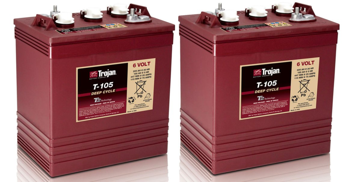 RV Batteries 101 & Why we use Trojan T-105 6V Golf Cart