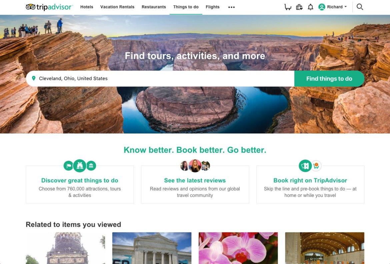 TripAdvisor Attraction Page
