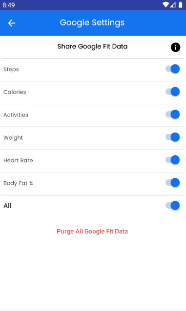 Share Google Fit Data