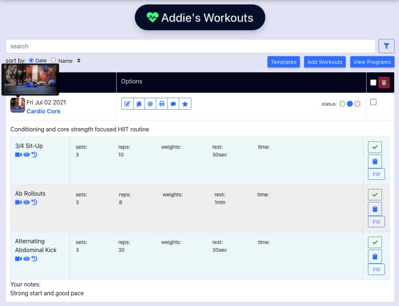 [web] Demo Preview Image/gif on workout list