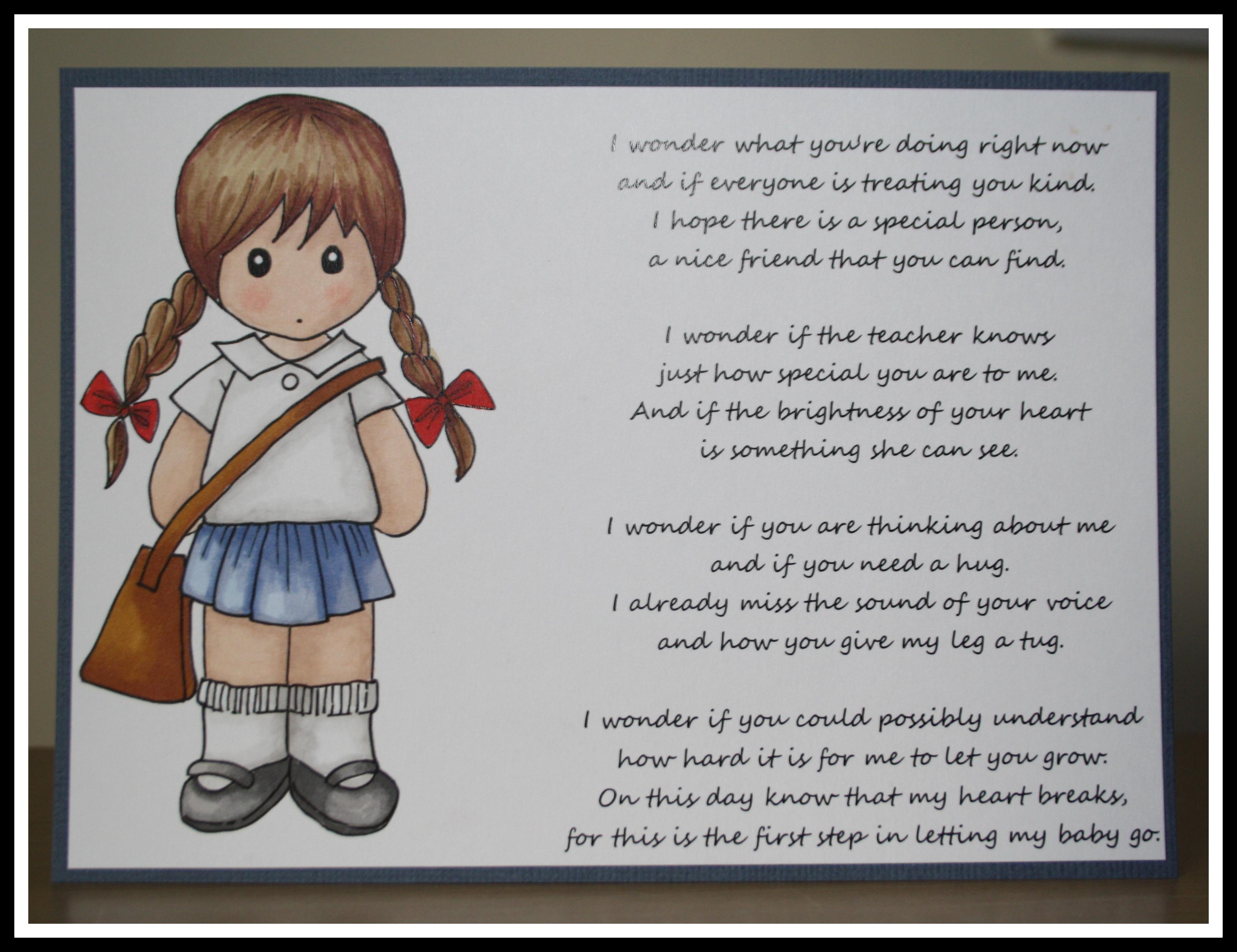 Starting School Poem