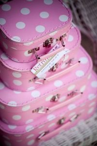 luggage pink