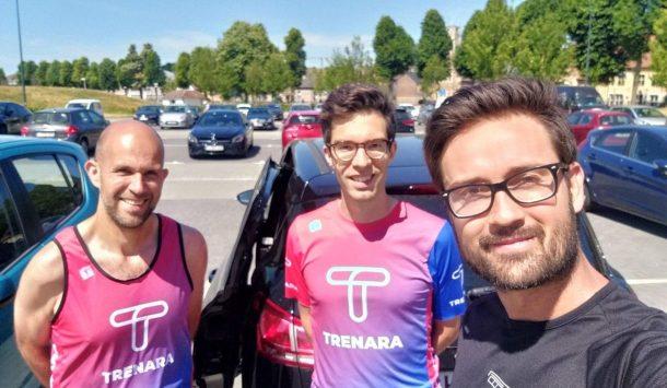Kurt Schütte of RunEASI with Gert & Christophe, co-founders of Trenara