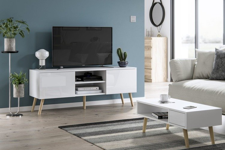 romeo juliet tv unit and coffee table set white gloss