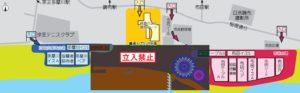 調布花火会場図