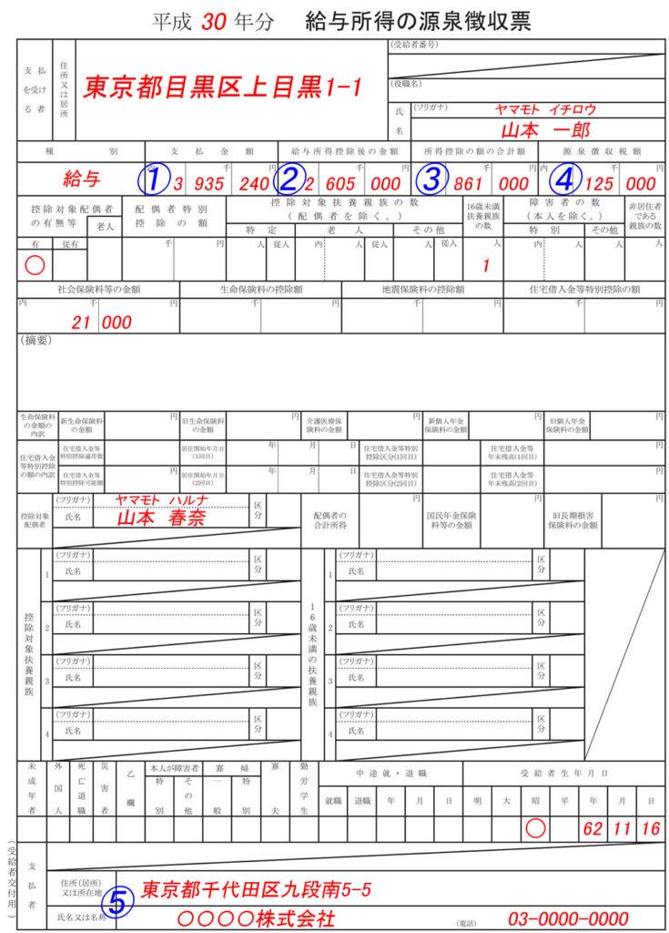 H30年分_源泉徴収票_保険料控除500図